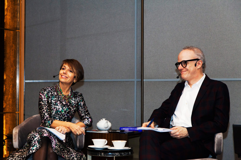 Patrizia Sandretto Re Rebaudengo and Hans Ulrich Obrist at the LOOP Talks 2018. © Carlos Collado