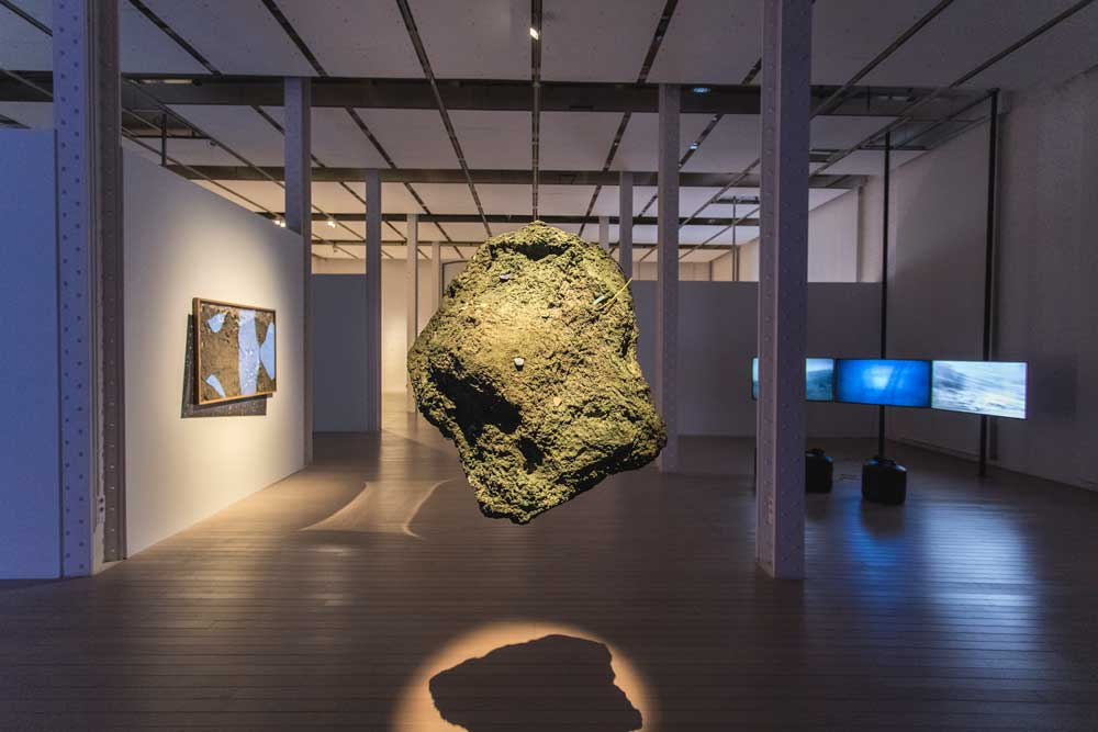 'One Day I Stumbled Upon a Meteorite', group show. Installation view, Fabra i Coats - Contemporary Art Centre of Barcelona, LOOP Festival 2019. © Xavi Torrent