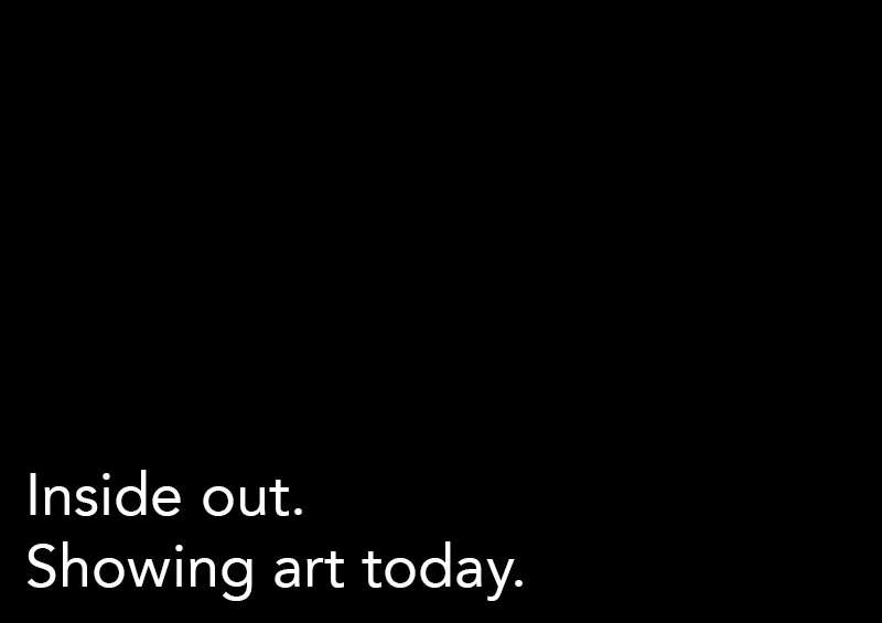 Inside out. Showing art today.