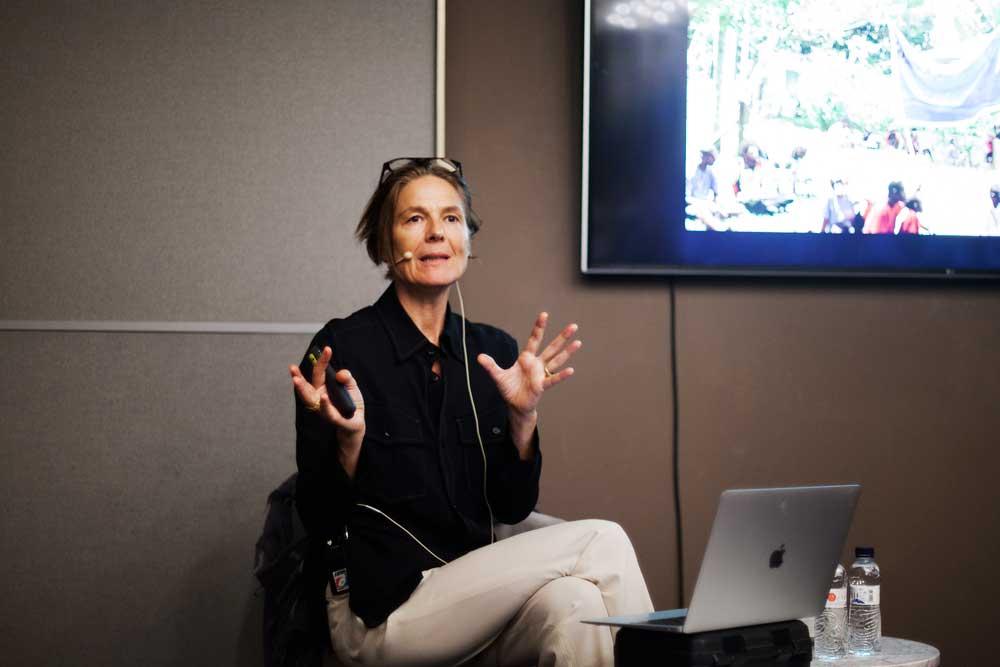 Daniela Zyman (Artistic Director, TBA21) at the LOOP Talks 2019. © Carlos Collado